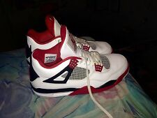 "Jordan ""Fire Red"" 4, Size 13,"