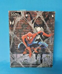 """VINTAGE """"THE AMAZING SPIDER-MAN"""" JIGSAW PUZZLE 100 PIECES COMPLETE ~ GOLDEN"""