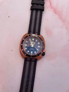 TC-9 Bronze Automatic Divers Watch - 300m WR - Seiko Movement. Turtle Design