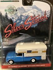 Greenlight  1968 Chevy Cheyenne Pickup  w/ Silver Streak Slide - In Camper Blue