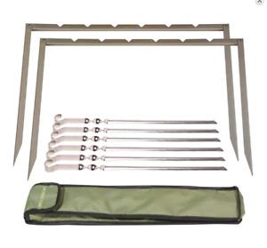 Grill-Rahmen RINO 6 IBS mit 6 Grillspießen für Mangal Schaschlikspieße