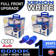 Audi A1 10-on Xenon White Upgrade Kit Headlight Dipped High Side Bulbs 6000k