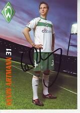 FOOTBALL carte joueur KEVIN ARTMANN équipe WERDER BREMEN signée