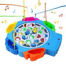 Tablero de juego de Pesca con varillas Niños Juguete de pescado Placa Giratoria Musical para Niños Interior