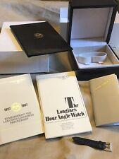 LONGINES-LINDBERG HOUR ANGLE WATCH Box Full Set Garanzia Blank Rare 90's