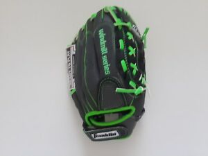 "Franklin Windmill 22318 Baseball Glove 12"" Black Green All Positions RHT Youth"