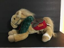 "13"" Wells Fargo Buck Horse Brown Holiday Wreath Plush Pony 2003"