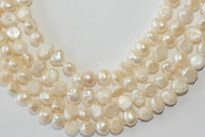 BR106 7-8mm Zuchtperlen Strang Süßwasser Perlen Schmuck Kette Halskette barock