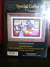 CROSS MY HEART ~SPECIAL COFFEE KITS~ CSK-418 COUNTED CROSS STITCH KIT