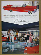 1956 Cadillac Series 62 Convertible palm springs racquet club vintage print Ad