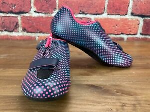 Shimano SH-RP5 Women's 40 (EU) 7.8 (US) Road Cycling Shoes 3-Bolt BOA Navy Dot