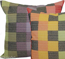 MISSONIHOME COTTON EMBROIDERED PILLOW BAG FODERA CUSCINO RICAMATA IRIS T59