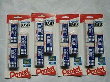 4 Pentel Hi Polymer 3 Pack Erasers Latex Free Non Abrasive 12 Erasers Total