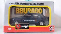 BBURAGO BURAGO ALFA ROMEO 75 CARABINIERI ART. 0189 1:24  VINTAGE MADE IN ITALY