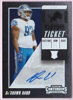 DA'SHAWN HAND RC 2018 CONTENDERS PLAYOFF TICKET AUTO #41/49 LIONS AUTOGRAPH