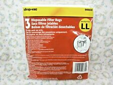 SHOP-VAC, 3 Pack, Filter Bags for 4 Gallon AllAround EZ, Part# 90660