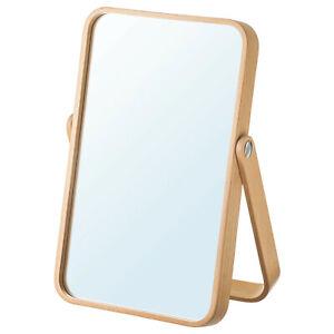 IKEA Mirror Ash Wood Make-Up Frisiertspiege Kosmetiktspiegel Table Mirror