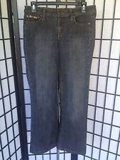 L.E.I. Women's Size 11 Junior Flare Black Washed Denim Jeans