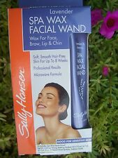 SALLY HANSEN LAVENDER SPA WAX FACIAL WAND COMPLETE KIT, LASTS UP TO 8 WEEK