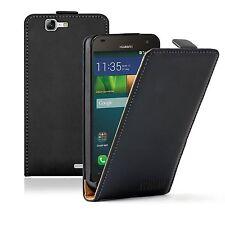 Ultra Slim Cuero Negro Funda Protectora Huawei Ascend G7 (g7-l01, g7-l03)