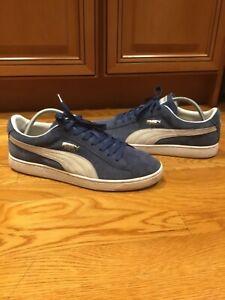 Puma Classic Blue Suede - Mens size 10.5