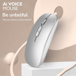 Wireless Mouse AI Intelligent Voice Recognition Silent Voice Search Mouse 2.4GHz
