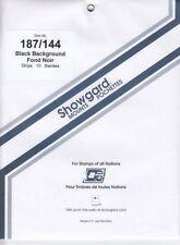 Showgard Stamp Mounts 187/144 For UN Flag Sheetlets Black Pack Of 10 New