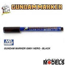 GUNDAM MARKER GM01 200 BLACK - Pennarello Nero Punta Fina Bandai Mr Hobby Nuovo