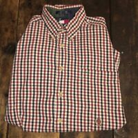 Tommy Hilfiger Red White and Blue Flannel Button Down Dress Shirt Mens  Large