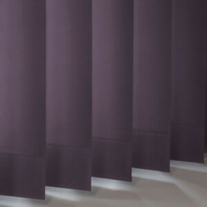Purple Blackout Replacement Vertical Slats (89mm) - Banlight Duo FR Mulberry