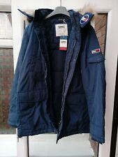 BNWT Mens Tommy Hilfiger Tommy Jeans TJM Tech Parka Jacket Coat XXL Blue rrp£210