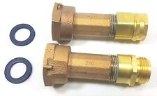 "3/4"" Water Meter Garden Hose Adapter, Couplings fit 5/8 x 3/4 meters FGH x MGH"