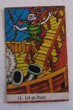 1974 Sunicrust Crazy Crew Bread Card Number 14 Pirate Cards RARE Near Mint