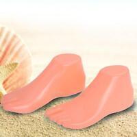 1 Pair Plastic Female Feet Mannequin Foot Model for Shoes Sandal Sock Display