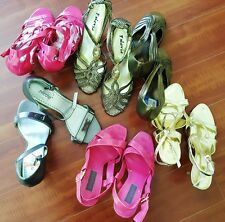 LOT OF 6 New Classy Pairs Women's High Heel Shoes Evening Party Work & Occasion