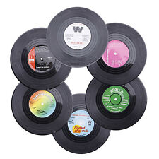 6x Retro CD Record Vinyl Coffee Cup Drink Holder Mat Coaster Tableware Placemat