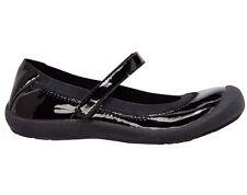 New Hanna Andersson Girls Maya Mary Jane  BLACK Patent Shoes Sz 4 Baby Flats