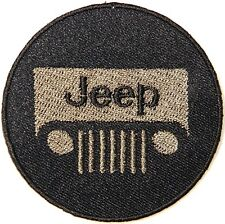 """Jeep Wrangler Grand Cherokee 2.75"""" Logo Sew Ironed On Embroidery Applique Patch"""