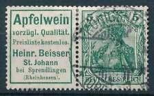 D.Reich Zusammendruck W 2.7 gestempelt, Apfelwein Beisser Reklame (69724)