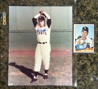 HOYT WILHELM signed photo & 1965 Topps BB Card - Giants, Indians, Orioles