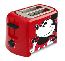 Mickey Mouse 2 Slice Red Toaster, Wide Slots, Adjustable Controls, Rubber Feet