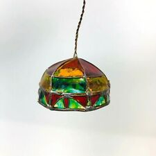 Dollhouse Tiffany Hanging Lamp Chandelier Green Red Yellow