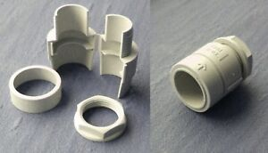20mm flexible conduit adaptor, end fitting, Nylon    ADP020FLEX