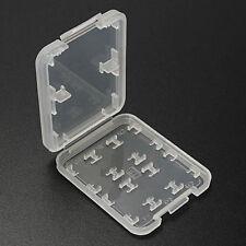 Micro SD TF SDHC MSPD Memory Card Box Storage Case Holders Plastic 8 Slots Gift