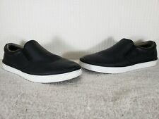 Cole Haan Mens Falmouth Grand Os Fashion Sneaker Black Leather Slip On Shoes 13M