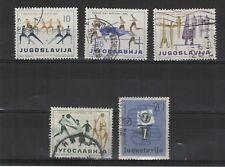 Yougoslavie  1959 5 timbres oblitérés /T2124