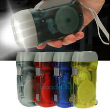 4Pack 3-LED Dynamo Hand Crank Flashlight Emergency Camping Torch Charge