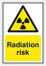 1x Danger RADIATION RISK sticker Warning Safety Vinyl Decal Caution for Door #02