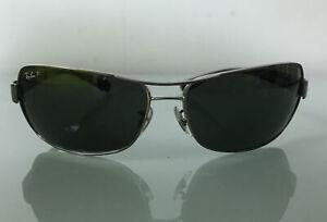 Ray Ban RB3379 Polarized Aviator Sunglasses (RB 3379) Green Lens/Gunmetal Frame