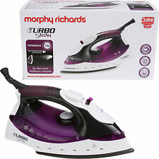 Morphy Richards Steam Iron 40698 Turbosteam 2000w Black Plum Ceramic soleplate